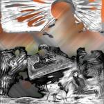 Ева. Без названия. Трансформированная фотография живописи. 2017. Собственность автора. (2)